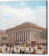 Overlooking The Place De La Bourse Paris By Carlo Bossoli