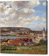 Overlooking The Town Of Dieppe Canvas Print