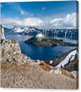 Overlooking Wizard Island In Spring Canvas Print