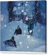 Overnight Snow Canvas Print