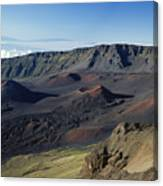 Overview Of Haleakala Cra Canvas Print