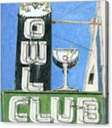 Owl Club Canvas Print