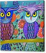 Owl In The Family Canvas Print