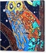Owl Light Canvas Print