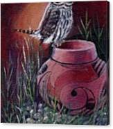 Owl N Pot Canvas Print