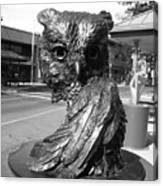 Owl Sculpture Grand Junction Co Canvas Print