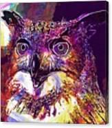 Owl The Female Eagle Owl Bird  Canvas Print