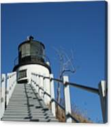 Owls Head Lighthouse Winter Canvas Print