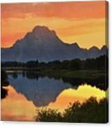 Oxbow Sunset 13 Canvas Print