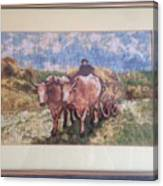 Oxcart After Nicolae Grigorescu Canvas Print