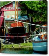 Oxford Boat Works Canvas Print