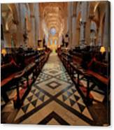Oxford Cathedral Nave Canvas Print