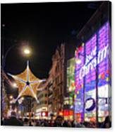 Oxford Street London At Christmas Canvas Print