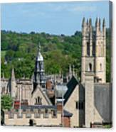 Oxford Tower View Canvas Print