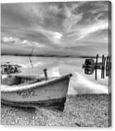 Oyster Boat Ap3392 Canvas Print
