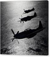 P-51 Cavalier Mustang With Supermarine Canvas Print