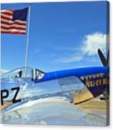 P-51 Hell - Er - Bust Canvas Print