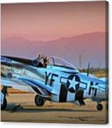 P-51d Mustang 'dakota Kid II. The Long Island Kid' And Casey Odegaard Canvas Print