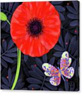 P Is For Pretty Poppy Canvas Print