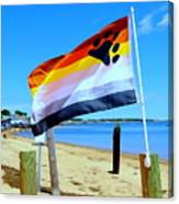 P Town Bear Flag Canvas Print