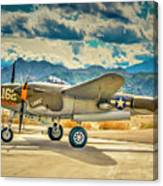 P38 Fly In Canvas Print