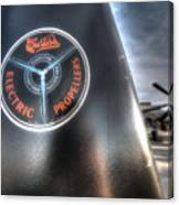 P40 Prop With A P51 Mustang Canvas Print