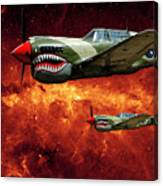 P40s A Long Ways From Home Canvas Print