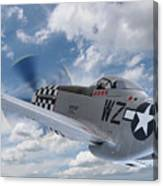 P51 In The Clouds Canvas Print