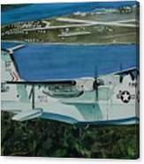 P5m Over North Island Canvas Print