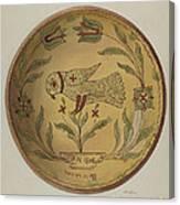 Pa. German Pie Plate Canvas Print