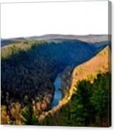 Pa Grand Canyon-pine Creek Canvas Print