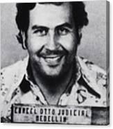 Pablo Escobar Mug Shot 1991 Vertical Canvas Print