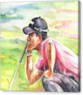 Pablo Larrazabal Winning The Bmw Open In Germany In 2011 Canvas Print