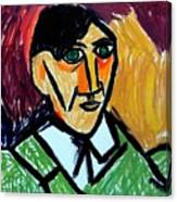 Pablo Picasso 1907 Self-portrait Remake Canvas Print