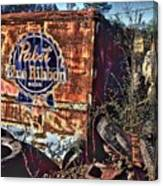 Pabst Blue Ribbon Delievery Truck Canvas Print