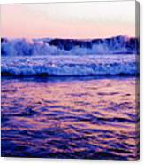 Pacifac Sunset 23 Wc Canvas Print