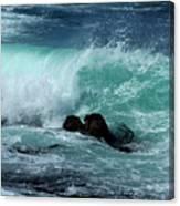 Pacific Coast Crashing Wave Photograph Canvas Print