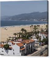 Pacific Coast Highway Along Santa Monica Beach Canvas Print