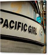 Pacific Girl Canvas Print