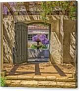 Pacific House Garden Watercorlors Canvas Print