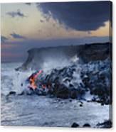 Pacific Lava Flow Canvas Print