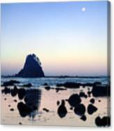 Pacific Moonset Canvas Print
