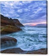 Pacific Ocean At Cape Kiwanda In Oregon Canvas Print
