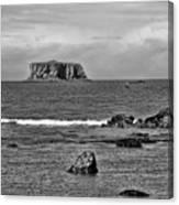Pacific Ocean Coastal View Black And White Canvas Print