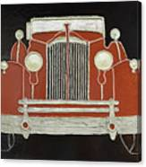 Packard 1937 Red Canvas Print