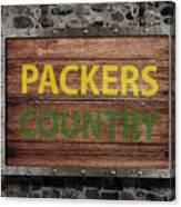 Packers Country Medieval  Canvas Print