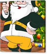 Packers Santa Claus Canvas Print