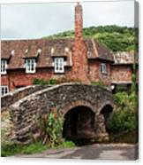 Packhorse Bridge At Allerford Canvas Print
