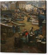 Packing Fish   St Ives Canvas Print