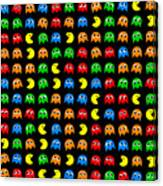Pacman Seamless Generated Pattern Canvas Print